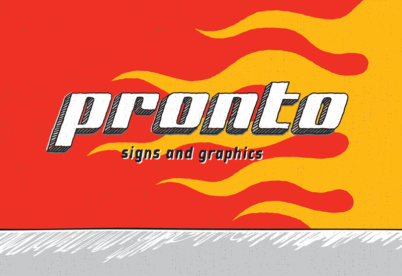Pronto Signs Illustration